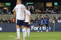 SAN JOSE, CA - AUGUST 13: Cristian Espinoza #10 ad Javier Lopez #9 of the San Jose Earthquakes during a game between Vancouver Whitecaps and San Jose Earthquakes at PayPal Park on August 13, 2021 in San Jose, California.