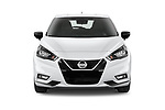 Car photography straight front view of a 2021 Nissan Micra N-Sport 5 Door Hatchback Front View