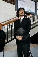 Maestro Ken Nagano (Montreal Symphonic Orchestra) Press conference, March 30, 2005.<br /> <br /> photo : Pierre Roussel - Agence Quebec Presse