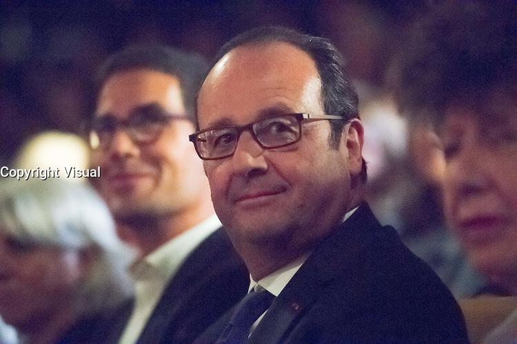 Francois Holllande lors de l'HOMMAGE LEO FERRE- Radio France  le 9 sept 2016