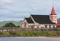 Ohinemutu Village, Rotorua, New Zealand.  St. Faith's Anglican Church.