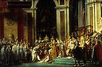 Louis David 1748-1825.  Le Sacre de Napoleon 1st, 1806-1807.  Louvre. Reference only.