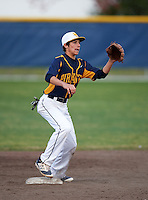 Boca Ciega Pirates second baseman Kaemic Brown (1) during a game against the Lakeland Spartans at Boca Ciega High School on March 2, 2016 in St. Petersburg, Florida.  Boca Ciega defeated Lakewood 2-1.  (Mike Janes/Four Seam Images)