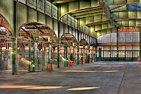 The interior of the Central Railroad of New Jersey (CRRNJ) Terminal, located in Liberty State Park, Jersey City, New Jersey.