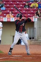 Lansing Lugnuts designated hitter Chris Hawkins #7 bats during a game against the Cedar Rapids Kernels at Veterans Memorial Stadium on April 29, 2013 in Cedar Rapids, Iowa. (Brace Hemmelgarn/Four Seam Images)