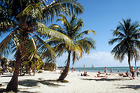 George Smathers Beach on Key West, in the Florida Keys. seascape, palm trees. Key West Florida, Florida Keys.