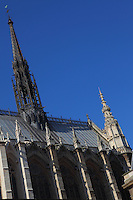 A view of a part of the top of the Sainte Chapelle, in the Ile de la Cité in Paris.<br /> <br /> You can download this file for (E&PU) only, but you can find in the collection the same one available instead for (Adv).