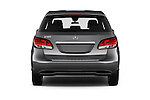 Straight rear view of 2016 Mercedes Benz B-Class Inspiration 5 Door Mini MPV Rear View  stock images