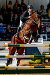 October 17, 2021: Dominic Schramm (AUS), aboard Bolytair B, competes during the Stadium Jumping Final at the 5* level during the Maryland Five-Star at the Fair Hill Special Event Zone in Fair Hill, Maryland on October 17, 2021. Jon Durr/Eclipse Sportswire/CSM
