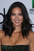 BEVERLY HILLS, CA - OCTOBER 21: Olivia Munn at 17th Annual Hollywood Film Awards held at The Beverly Hilton Hotel on October 21, 2013 in Beverly Hills, California. (Photo by Xavier Collin/Celebrity Monitor)