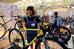 Mercredi stand at Bespoked 2018 UK handmade bicycle show held at Brunel's Old Station & Engine Shed, Bristol, England. 21st April 2018.<br /> Picture: Eoin Clarke | Cyclefile<br /> <br /> <br /> All photos usage must carry mandatory copyright credit (© Cyclefile | Eoin Clarke)