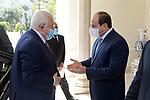Palestinian president Mahmoud Abbas, meets with Egyptian President Abdel Fattah al-Sisi in cairo, Egypt, on September 02, 2021. Photo by Thaer Ganaim