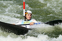 4th September 2021; Parc Olimpic del Segre, La Seu D'Urgell ICF Slalom World Cup, men's Kayak Final;  Noah Hegge (GER)