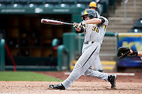 Erik Harbutz #38 of the Wichita State Shockers follows through his swing during a game against the Missouri State Bears at Hammons Field on May 5, 2013 in Springfield, Missouri. (David Welker/Four Seam Images)