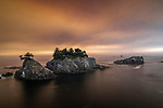 Oregon, Samuel Boardman State Park, smokey sky from forest fires