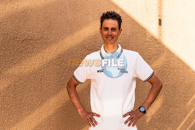 Niki Terpstra (NED) Team Total Direct Energie at the top riders press conference before the start of the Saudi Tour 2020 held in Riyadh, Saudi Arabia. 3rd February 2020. <br /> Picture: ASO/Kåre Dehlie Thorstad | Cyclefile<br /> All photos usage must carry mandatory copyright credit (© Cyclefile | ASO/Kåre Dehlie Thorstad)