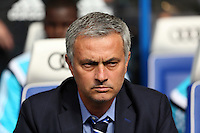 Pictured: Chelsea manager Jose Mourinho. Saturday 13 September 2014<br /> Re: Premier League Chelsea FC v Swansea City FC at Stamford Bridge, London, UK.