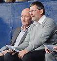 Scotland boss Craig Levein watches from the Starks Park stand