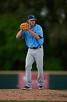 Tampa Bay Rays pitcher Matt Seelinger (49) during a Minor League Spring Training game against the Baltimore Orioles on March 16, 2019 at the Buck O'Neil Baseball Complex in Sarasota, Florida.  (Mike Janes/Four Seam Images)