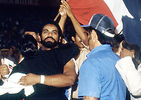 **FILE PHOTO** Dominican Wrestler Jack Veneno Has Passed Away.  Veneno's claim to fame was winning against Ric Flair in 1982.<br /> <br /> <br /> Jack Veneno in a match against Ric Flair at Palacio de los Deportes Virgilio Travieso Soto in Santo Domingo,The Dominican Republic on January  7, 1982. Credit: George Napolitano/MediaPunch