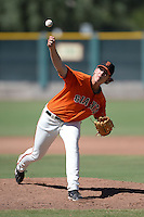 San Francisco Giants pitcher Dylan Brooks (74) during an instructional league game against the Arizona Diamondbacks on October 3, 2013 at Giants Baseball Complex in Scottsdale, Arizona.  (Mike Janes/Four Seam Images)