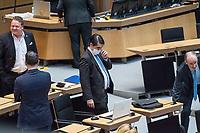 """Plenarsitzung des Berliner Abgeordnetenhaus am Donnerstag den 30. April 2020.<br /> Im Bild vlnr.: Franz Kerker; Tommy Tabor (von hinten); Marc Vallendar (mit Maske); Martin Trefzer, Abgeordnete der sog. """"Alternative fuer Deutschland"""".<br /> 30.4.2020, Berlin<br /> Copyright: Christian-Ditsch.de<br /> [NUR FUER REDAKTIONELLE ZWECKE! Werbung nur auf Anfrage beim Fotografen. Inhaltsveraendernde Manipulation des Fotos nur nach ausdruecklicher Genehmigung des Fotografen. Vereinbarungen ueber Abtretung von Persoenlichkeitsrechten/Model Release der abgebildeten Person/Personen liegen nicht vor. NO MODEL RELEASE! Don't publish without copyright Christian-Ditsch.de, Veroeffentlichung nur mit Fotografennennung, sowie gegen Honorar, MwSt. und Beleg. Konto: I N G - D i B a, IBAN DE58500105175400192269, BIC INGDDEFFXXX, Kontakt: post@christian-ditsch.de<br /> Bei der Bearbeitung der Dateiinformationen darf die Urheberkennzeichnung in den EXIF- und  IPTC-Daten nicht entfernt werden, diese sind in digitalen Medien nach §95c UrhG rechtlich geschuetzt. Der Urhebervermerk wird gemaess §13 UrhG verlangt.]"""