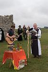 Dorset Druid Grove, Autumn Equinox at Knowlton prehistoric henge monument and ruined church. 2021.