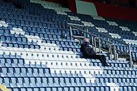 Queens Park Rangers lone fan in the stadium<br /> <br /> Photographer Stephanie Meek/CameraSport<br /> <br /> The EFL Sky Bet Championship - Queens Park Rangers v Middlesbrough - Saturday 26th September 2020 - Loftus Road - London <br /> <br /> World Copyright © 2020 CameraSport. All rights reserved. 43 Linden Ave. Countesthorpe. Leicester. England. LE8 5PG - Tel: +44 (0) 116 277 4147 - admin@camerasport.com - www.camerasport.com