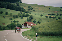breakaway group was off right from the start of the race in Gansingen<br /> <br /> Stage 4: Gansingen > Gstaad (189km)<br /> 82nd Tour de Suisse 2018 (2.UWT)