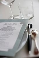 Europe/France/Aquitaine/33/Gironde/Bordeaux/Lormont: , Jean-Marie AMAT  restaurant : Château du Prince Noir-détail table dressée
