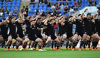 12th September 2021; Cbus Super Stadium, Robina, Queensland, Australia; Rugby International series, New Zealand versus Argentina:  All Blacks captain Brodie Retallick leads the haka.