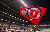 The Ute flag flies in Husky Stadium.