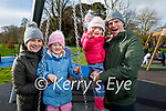 Enjoying the playground in the Tralee town park on Saturday, l to r: Bridin, Fiadh, Conor and Aoileann Reen.