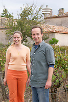 Eloise and Nicolas Heeter-Tari. Owner. Chateau Nairac, Barsac, Sauternes, Bordeaux, France