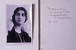 """Gurtrude Bugler as a young actress circa 1924 when she played Tess in """"Tess of the D'Urbervilles"""" at the Duke of Yorks Theatre London. Friend of Thomas Hardy. """" To Gertrude Bugler the impersonator of """"Tess"""" with affectionate regards from Thomas hardy. Dec 1924""""."""
