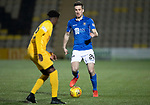 Livingston v St Johnstone…..22.01.20   Toni Macaroni Arena   SPFL<br />Callum Booth is closed down by Steve Lawson<br />Picture by Graeme Hart.<br />Copyright Perthshire Picture Agency<br />Tel: 01738 623350  Mobile: 07990 594431