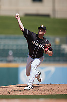 Charlotte Knights relief pitcher Matt Foster (36) in action against the Durham Bulls at Truist Field on August 28, 2021 in Charlotte, North Carolina. (Brian Westerholt/Four Seam Images)