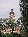 Belltower of the Sultan Abdul Samad building at Merdeka Square in Kuala Lumpur.