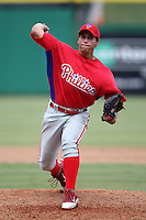 Philadelphia Phillies pitcher Colton Murray #37 during an Instructional League game against the Toronto Blue Jays at Brighthouse Field on October 7, 2011 in Clearwater, Florida.  (Mike Janes/Four Seam Images)