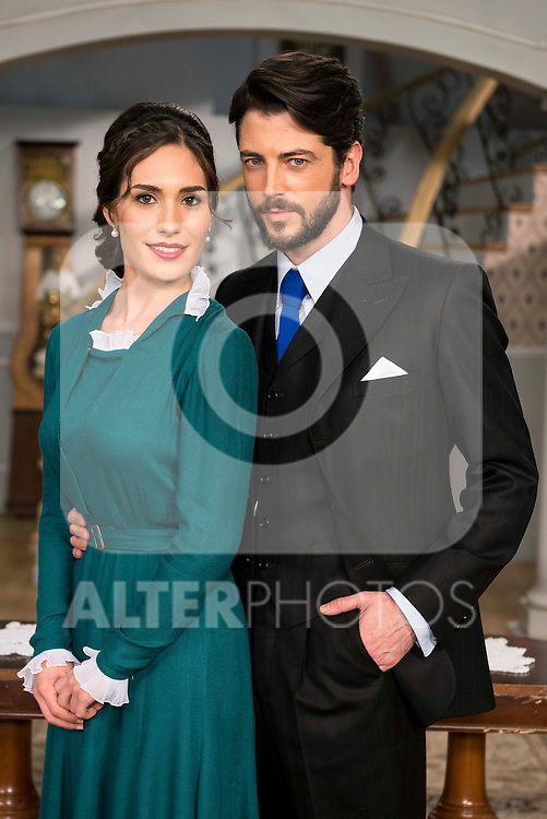"""Yara Puebla and Angel de Molina during the presentation of the new characters for the new season of the tv series """"El Secreto de Puente Viejo""""  in Madrid, February 10, Madrid. during the presentation of the new characters for the new season of the tv series """"El Secreto de Puente Viejo""""  in Madrid, February 10, Madrid."""