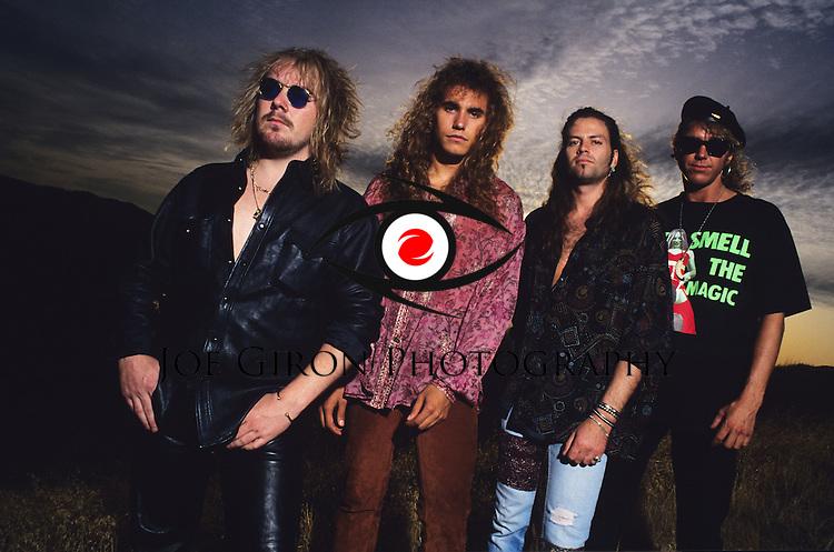 Portraits & live photographs of the band, Bonham.