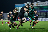 27th December 2020 | Connacht  vs Ulster <br /> <br /> Nick Timoney gets away from Finlay Bealham to score Ulster's second try during the Guinness PRO14 match between Connacht and Ulster at The Sportsground in Galway. Photo by John Dickson/Dicksondigital