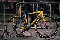 Ellen Van Loy's (BEL/Telenet Fidea Lions) machine after the race<br /> <br /> women's race<br /> Soudal Jaarmarktcross Niel 2018 (BEL)