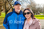 Colm and Mary McLoughlin enjoying a walk in the Tralee Town park on Tuesday