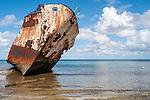 Ship wreck in Funafuti, Tuvalu