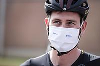Pre Race Toon Aerts (BEL/Telenet Baloise Lions) with face mask. <br /> <br /> Dwars Door Het Hageland 2020<br /> One Day Race: Aarschot – Diest 180km (UCI 1.1)<br /> Bingoal Cycling Cup 2020