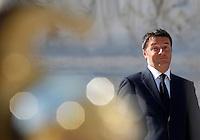 Il Presidente del Consiglio Matteo Renzi ad una cerimonia all'Altare della Patria in occasione della Festa della Repubblica, a Roma, 2 giugno 2015.<br /> Italian Premier Matteo Renzi attends a ceremony at the Vittoriano on the occasion of the Republic Day in Rome, 2 June 2015.<br /> UPDATE IMAGES PRESS/Riccardo De Luca
