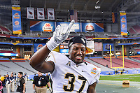 January 01, 2014:<br /> <br /> UCF Knights defensive back Brandon Alexander #37 celebrates during at University of Phoenix Stadium in Scottsdale, AZ. UCF defeat Baylor 52-42 to claim it's first ever BCS Bowl trophy.