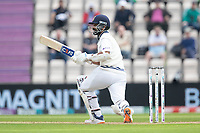 Ajinkya Rahane, India pulled straight to the fielder and dismissed during India vs New Zealand, ICC World Test Championship Final Cricket at The Hampshire Bowl on 20th June 2021