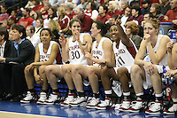 20 March 2006: Rosalyn Gold-Onwude, Brooke Smith, Jillian Harmon, Candice Wiggins and Candice Wiggins during Stanford's 88-70 win over Florida State in the second round of the NCAA Women's Basketball championships at the Pepsi Center in Denver, CO.
